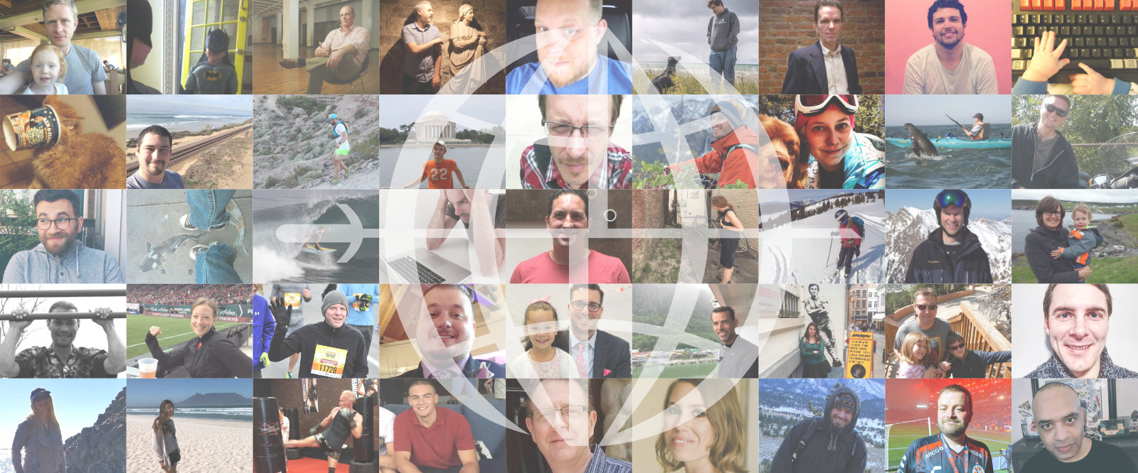 grid of all the people at network ninja